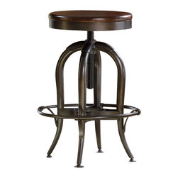 Hooker Furniture - Hooker Furniture Wendover Adjustable Height Stool - Hooker Furniture - Office Chairs - 103731455 - Wendover's style is relaxed and casual, but it works hard to make it easy for you to find a solution for virtually any home office or home entertainment need.