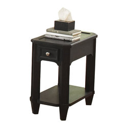 Riverside Furniture - Riverside Furniture Farrington Chairside Table in Black Forrest Birch - Riverside Furniture - End Tables - 40814 - Riverside's products are designed and constructed for use in the home and are generally not intended for rental, commercial, institutional or other applications not considered to be household usage.