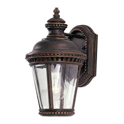 Murray Feiss - Murray Feiss OL1900GBZ Castle Wall Mount Lantern in Grecian Bronze finish with C - Shown in picture: Castle Wall Mount Lantern in Grecian Bronze finish with Clear Bent Beveled Glass