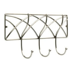 Liberty Hardware - Liberty Hardware 133080 0 18 Inch Hook - Satin Nickel - Organization with style has never been so easy. This metal rail with hooks is designed to hold a wide variety of items  coats, hats, handbags, umbrellas, towels or robes. This classic design is perfectly suited for any room from the entryway to the bathroom. Embrace the Liberty̠ of organization!. Width - 18 Inch, Height - 9.1 Inch, Projection - 3.4 Inch, Finish - Satin Nickel, Weight - 2.4 Lbs.