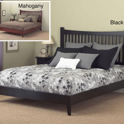 Fashion Bed Group - Jakarta Full-size Platform Bed - This Asian-style full-size platform bed features straight lines to give any bedroom a high-end look. The decorative legs offer a stylish touch and distinguished look. The comfortable platform beds offer the right amount of cushion with no box spring.