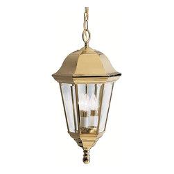 Kichler - Kichler 9889PB Grove Mill Polished Brass 3 Light Outdoor Pendant - Finish: Polished Brass