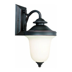 DHI-Corp - Drake Outdoor Downlight, 8-Inch by 15.5-Inch, Oil Rubbed Bronze - The Design House 517581 Drake Outdoor Downlight greets your guests at the door with a soft, inviting glow. The bronze finish and frosted glass add a traditional elegance to any decor. This lamp measures 8-inches (W) by 15.5-inches (H) and matches brick, stone, wood paneling or aluminum siding. This light uses (1) 60-watt medium base incandescent lamp and is rated for 120-volts. Minimal details and straight, clean lines give your home great curb appeal. Illuminate a front porch or back deck with this modern-day lantern's bright finish and classic design. This downlight will stay bright in harsh weather conditions and is UL listed and approved for wet areas. The Design House 517581 Drake Outdoor Downlight comes with a 10-year limited warranty that protects against defects in materials and workmanship. Design House offers products in multiple home decor categories including lighting, ceiling fans, hardware and plumbing products. With years of hands-on experience, Design House understands every aspect of the home decor industry, and devotes itself to providing quality products across the home decor spectrum. Providing value to their customers, Design House uses industry leading merchandising solutions and innovative programs. Design House is committed to providing high quality products for your home improvement projects.