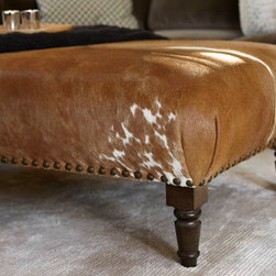 Cowhide Ottoman - Custom - Cowhide Ottoman.  Ottoman can be customized by size and cowhide color.