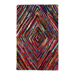 Anji Mountain - Natural Fiber Marrakesh 5'x8' Rectangle Multi Color Area Rug - The Marrakesh area rug Collection offers an affordable assortment of Natural Fiber stylings. Marrakesh features a blend of natural Multi Color color. Hand Tufted of 100% Recycled Cotton the Marrakesh Collection is an intriguing compliment to any decor.