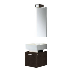VIGO Industries - VIGO 18-inch Single Bathroom Vanity, Wenge, With Mirror - Constructed with you in mind, this VIGO bathroom vanity has 'perfect' written all over it. No other brand can match VIGO's style, quality and design.