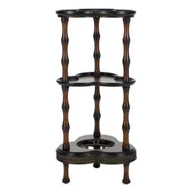 Safavieh - Gloria Side Table - Vanderbilt style is what inspired the posh Gloria Side Table. Chic, sophisticated bamboo-carved legs in solid birch wood support three tiers fit for displaying treasures and all of life's small pleasures.