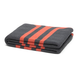 in2green - Eco Serape Throw, Smoke/Coral - This traditional Mexican print available in three warm colors will bring the spice of the south to any space in your home.