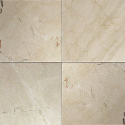 Tilesbay.com - Sample of 12X12 Polsihed Crema Marfil Classic Marble Tile Marble Tile - Crema Marfil Classic Polished 12X12 is a marble from Spain with tan undertones. As the name suggests the Classic Grade is the most dramatic of all categories. Crema Marfil is ideal for indoor bathroom and kitchen applications such as backsplashes, flooring and wall coverings.
