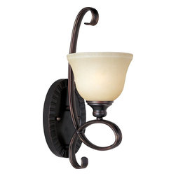 Maxim Lighting - Maxim Lighting Infinity Traditional Wall Sconce X-IOSW11312 - Achieve dramatic results in your design with this Maxim Lighting Infinity Traditional Wall Sconce. You can't help but notice the gently curved, oval-shaped tubing and rich and warm, oil rubbed bronze finish. It supports a stunning Wilshire glass shade, and is sure to effortlessly complement a broad range of architectural and interior styles.