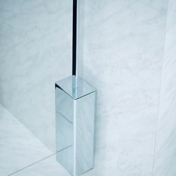 "WS Bath Collections - Urban Wall Mount Toilet Brush Holder in Polished Chrome - Features: -Brush holder. -Urban collection. -Polished chrome finish. -Brass construction. -Wall mount. -Made in Spain. -Manufacturer provides One Year warranty against defects in workmanship, materials, or operation, excluding ordinary wear and tear. Dimensions: -19.7"" H x 3.4"" W x 3.4"" D, 10 lbs."