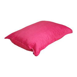 Best Selling Home Decor - Summit Furnishings Home Pink Dimpled Beanbag Pillow Chair - The comfort of these soft, cushioned beanbags are only matched by our Eco-friendly recycled foam-filled interior. A full-sized adult or a child can flop down and relax on these uniquely dimpled fabric, 100% polyester beanbags while still being elevated above the floor. Made in the USA, the seams are double-stitched preventing any leaks; Fill: Recycled CFR foam-certified fill for comfort; Closure: Double zipper is added for durability and then sealed shut for safety; Cover: Cover is double-stitched along all seams and is removable; also includes hidden stitching and seams; Puncture proof; Care Instructions: Spot CleanMade in the USTrademarkedAdult and Kid friendly.