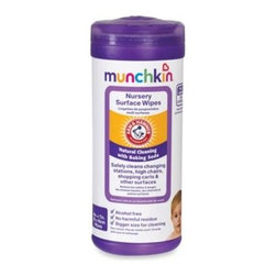 Munchkin - Munchkin  Arm & Hammer 24-Count All-Purpose Nursery Wipes - These are the perfect go-to cleaning tool for on-the-go. They are great to clean changing stations, high chairs, shopping carts and other surfaces.