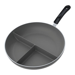 "the Triple Divided Skillet® - the Triple Divided Skillet® - 12"" - the Triple Divided Skillet® is a high-quality, extra-functional and a practical gift for yourself or others."