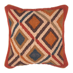 Jaipur - Bedouin Pillow Set of 2 - The Bedouin collection of pillows is hand woven from wool and jute. Patterns are inspired by traditional kilim patterns which have been recolored and updated. The look is rustic and authentic and designed to be mixed and matched with the coordinating range of poufs and rugs.