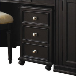 American Drew - American Drew Camden Black File Cabinet - American Drew - Filing Cabinets - 919941 - Designed for an urban chic setting classic antique or rustic vacation home the Camden Black Collection by American Drew offers class and casual sophistication in every piece of furniture. This collection has a beautiful classic black finish that accentuates the wood grain and contrasting brushed nickel finish hardware for added elegance. Simple yet practical the American Drew Camden Black Collection will add warmth and comfort to your home.Features: