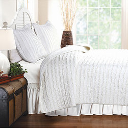 White Ruffle Quilt Set - Here's a little shabby chic!