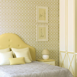 Stencil Ease - Trousdale Wall Painting Stencil - Quickly and easily create a comfortably classic ambience in your home with this Trousdale Wall Painting Stencil! This detailed, laser-cut stencil is a professional designer's dream along with our production size stencils with additional repeats for the installation team. Our laser-cutting produces crisp, clean smooth edges. We suggest you visit your local paint store for color ideas using contrasting colors or even trying a semi-gloss urethane (over a previously painted/stained surface) for a subtle effect.