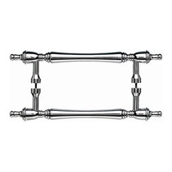 Top Knobs - Somerset Finial Back to Back Door Pull - Polished Chrome (TKM817-8 pair) - Somerset Finial Back to Back Door Pull - Polished Chrome