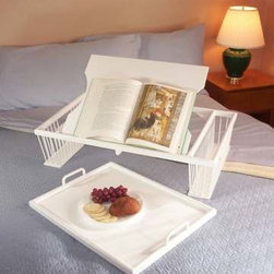 Ronel White Deluxe Bed Tray - Maybe you don't feel like climbing out of bed for breakfast. This tray will come in handy. A cup of tea or coffee, a little fruit, a French pastry and the morning paper will fit on it just perfectly.