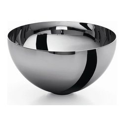 WS Bath Collections - Acquaio 9 in. Bathroom Vessel Sink in Stainle - Over The Counter (Vessel). Without Overflow. Made by Lineabeta of Italy. Product Material: Stainless Steel. Finish/Color: Silver. Dimensions: 9.6 in. Diameter x 4.7 in. H