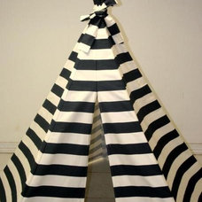 Contemporary Kids Toys And Games Navy Blue Stripe Teepee