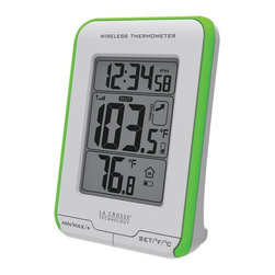 LA CROSSE TECHNOLOGY - LA CROSSE TECHNOLOGY 308-1410GR Digital Indoor/Outdoor Thermometer - Wireless thermometer ;