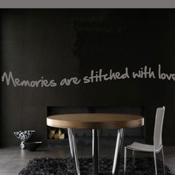 Memories Stitched Vinyl Wall Decal Antiquephotoquotes10, Beige, 36 in. - Vinyl Wall Quotes are an awesome way to bring a room to life!