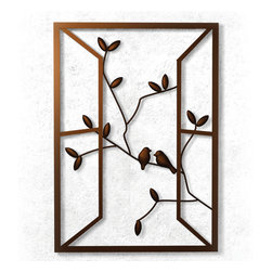 None - Plastec 'Open Window' Dark Bronze  Wall Piece - The Open Window wall piece creates a feeling of depth and romance on any wall. The design sits out from the wall by almost an inch,casting interesting shadows on the surface.
