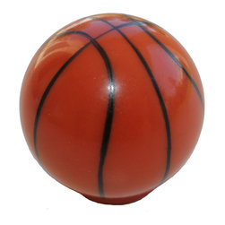 GlideRite Hardware - GlideRite Basketball Cabinet or Dresser Sports Knobs - Add a stylish look to your cabinets with this basketball cabinet knob.  Each knob is individually packaged to prevent damage to the finish. Standard installation screws are included.