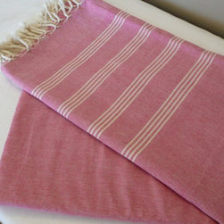 Turkish Bath Towel in Peshmetal Pink - These have to be the prettiest beach towels I've ever seen, and I hear they are beyond delightful to the touch.  You could use these to make your lounge chair a little lovelier and then use them in the bathroom for the cooler months.  A pop of pink always adds the right amount of cheer.