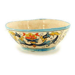 Artistica - Hand Made in Italy - Rinascimento: Cereal Bowl - The Rinascimento is an exclusive design for Artistica by the Umbrian renown artist Rale of Opera Nova.