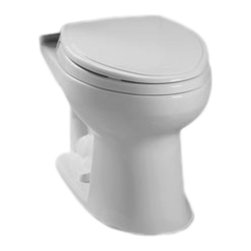 Toto - Toto C744E#11 Colonial White Drake E-Max Elongated Toilet Bowl Only - The Drake series gives a simple, sleek style to any bath with it's variety of options and finishes.