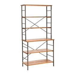 Safavieh Brook Wood Etagere - Walnut Brown