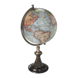 Authentic Models - Classic Globe Stand, Vaugondy - A classic French globe stand in a rich and perfect match of ebonized wood and bronze. Solid and still fragile, elegant and imposingly present. Beauty is in the eye of the beholder... Choose from three cartographers; maps are from the 16th, 17th and 18th C.