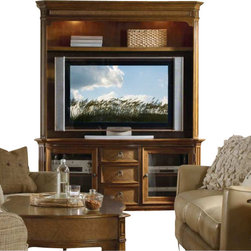 Hooker Furniture - Hooker Furniture Windward 62in TV Console with Hutch in Brown Cherry - Hooker Furniture - TV Stands - 11255648056580KIT - Envision furniture with a relaxed and laid back feeling.