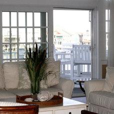 Tropical Living Room by Beach Dwellings