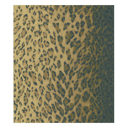 Brewster - Leopard Dark Brown Animal Print Wallpaper - Looking to add an exotic touch to your favorite room? This leopard-print wallpaper, made from prepasted non-woven material, peels right off when you're ready for something tamer. It's also washable. Made in the United Kingdom.