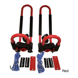 Pack'Em Racks - Pack'Em Universal Vehicle-top J-Hook Kayak Carrier Racks (Set of 2) - There is no need to travel without your kayaks when these handy carrier racks are available. Two large steel hooks are included, along with all of the elastic cord you need for installation. The J-shape of the racks ensures a proper fit for any kayak.