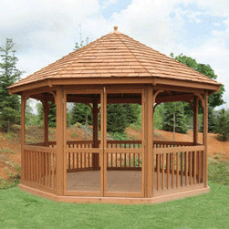 Wood Gazebos - The Stratford Gazebo is perfect for the economy-minded customer.  Simple design, great price.