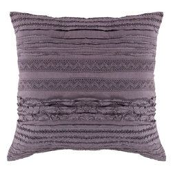 Surya - Surya Pewter Light Ruffle Pillow -