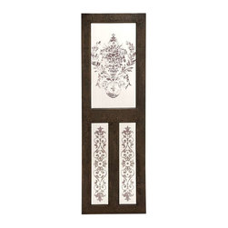 """BZBZ50952 - Designed Wood Mirror Wall Decor with Floral Design - Designed Wood Mirror Wall Decor with Floral Design. If your living area small in size, then you can mount this wood mirror wall decor to create an illusion of space. It comes with a following dimensions 24"""" W x 1. 5"""" D x 78"""" H."""
