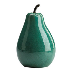 Cyan Design - Cyan Design Large Jade Ceramic Pear - Pear-y Pretty. Get your daily serving of style with the Large Jade Ceramic Pear from Cyan Design. Shaped just like a larger-than-life pear, this decorative sculpture features a glossy jade-green hue. Set it out on your dining table as a whimsical centerpiece, or use it to give your living area or kitchen a playful, eclectic feel. Now that's crisp!