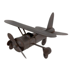 ecWorld - Vintage Model Toy Replica Handcrafted Metal Airplane - Antique Finish - Admire the detail of this faithful plane replica toy. Handcrafted in metal by unique artisans, this is a gorgeous work of art and a tribute to aviation history. Will make a stunning addition to any room decor.