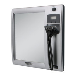 Zadro - Zadro Z'Fogless Led Lighted Shaving Mirror With Razor Holder In Silver-Z200 - Get a closer, smoother shave with the Z'Fogless Lighted fogless shower mirror.  It features a large, high quality, LED lighted fogless mirror with a stunning silver finish.