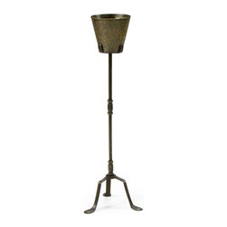 EuroLux Home - Vase Stand Brass Bronze Light Metal - Product Details