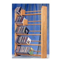 Wood Shed - 5 Row Dowel CD Rack (Unfinished) - Finish: UnfinishedCapacity: 275 CD's. Made from solid oak. Honey oak finish. 24.25 in. W x 7.25 in. D x 37.25 in. H
