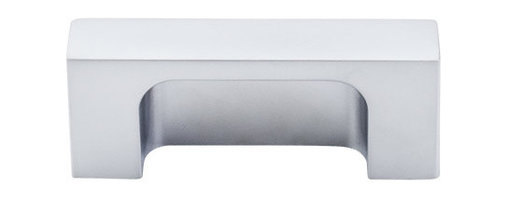 "Top Knobs - Modern Metro Tab Pull 2"" (c-c) - Aluminum - Length - 2 1/2"", Width - 1/2"", Projection - 1"", Center to Center - 2"", Base Diameter - W 1/2"" x L 2 1/2"""