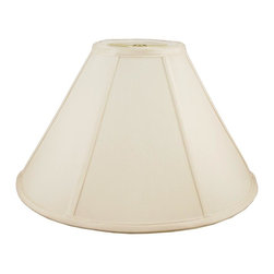 American Heritage Shades - Round Coolie Lampshade in Eggshell (21 in. Diam x 14 in. H) - Choose Size: 21 in. Diam x 14 in. HLampshade Types & Sizes. Shantung faux silk with off-white fabric liner. Hand made. Matching top, bottom and vertical trim. Enhances lamp and room decor. Made from polyester and fabric. Fitter in brass color. Made in USA. No assembly required. 20 in. W x 13 in. H x 5 in. Top Width