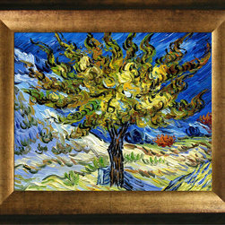 overstockArt.com - Van Gogh - The Mulberry Tree Oil Painting - Hand painted oil reproduction of one of the most famous Van Gogh paintings, The Mulberry Tree. The original masterpiece was created in 1889. Today it has been carefully recreated detail-by-detail, color-by-color to near perfection. Why settle for a print when you can add sophistication to your rooms with a beautiful fine gallery reproduction oil painting? Vincent Van Gogh's restless spirit and depressive mental state fired his artistic work with great joy and, sadly, equally great despair. Known as a prolific Post-Impressionist, he produced many paintings that were heavily biographical. This work of art has the same emotions and beauty as the original by Van Gogh. Why not grace your home with this reproduced masterpiece? It is sure to bring many admirers!